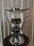 Vintage Green River Syrup Glass Dispenser Circa 1930and039s