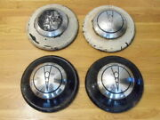 Set Of 1936 Ford 12.5 Dog Dish Two Piece V8 Hubcaps