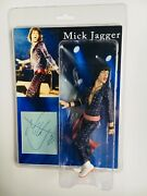 Mick Jagger Photo With Vintage Signed Autograph Card And 7 Figure Rare, Coa