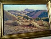 Antique Plein Air Oil Painting California Signed/reed 1933
