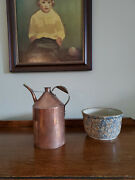 Antique Copper Jug Oil Can Milk Can Watering Can Very Good Antique Condition