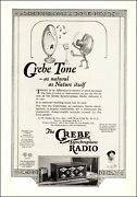 1927 Rare Vintage Ad For Grebe Radio Synchrophase Tone Natural As Nature 072621