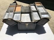 Vintage Rauchbach Trunk And Luggage Co. Leather Tackle Box From New Jersey