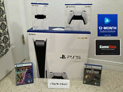Sony Playstation 5 Ps5 Console Disc Huge Bundle Games Controller Camera + More