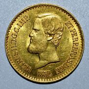1852 Brazil Gold Coin ✪ 20000 Reis ✪ Uncirculated Unc Bu L@@k Now 20k ◢trusted◣