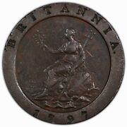 Great Britain 1797 2 Pence Pcgs Xf45 —————— Premium Quality With Rotated Die