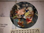 Lot Of 3 Walt Disney Snow White And Seven Dwarfs Collector's Plates Nos