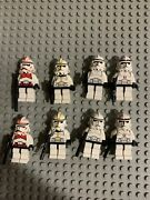 8 Lego Clone Trooper Minifigure Lot Star Wars Phase 2 Ep.3 Episode 3 7655 7261
