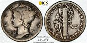 1916 D Mercury Silver Dime Pcgs Vf 20 Look Nice Coin For The Grade