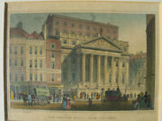 The Mansion House Rare Antique Colored Engraving