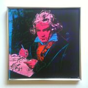 Andy Warhol Foundation Rare 1992 Lithograph Print Framed Poster Beethoven 1987