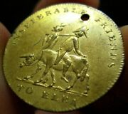 1814 Napoleon On Ass With Devil Token Medal Excellent