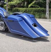 2014-19 Touring Harley Stretched Scalloped Saddlebags And Rear Fender