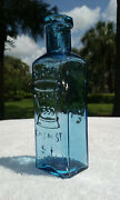 Tumbled - 1860's Western Glass, Dickey Chemist - S.f., Antique Medicine Bottle