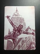 2017 Ultra Spider-man Deadpool Across America Empire State Building Plate 1/1
