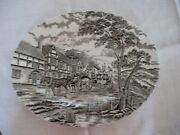 Myott Royal Mail Brown Staffordshire Ware Made In England. 12 Platter.