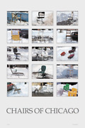 Chairs Of Chicago Poster Full Color 24 X 36 Snow Blizzard Winter Gift Dibs