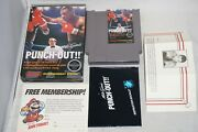 Mike Tysonandrsquos Punch Out Circle Nintendo Nes Complete In Box W/ Letter Great