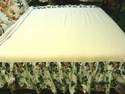 Waverly Pleasant Valley Bed Skirt Dust Ruffle Floral Grapes French Cottage Chic