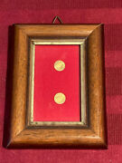Rare Vintage 8k Lot Solid Gold Coins Wood Frame Miniature Russia And Holland