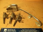 Vintage Boat Parts Perko 6 Cleats, Tie Down And Rope Roller Parts