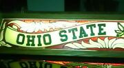 Ohio State Buckeyes Hanging Pool Table Light Stained Glass And Solid Wood