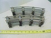 Old Vintage S Gauge 2 Rail Train Track Lot Of 12 Curve And Pins