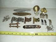 Lot Of Old Vintage Misc. Door Knobs Hinges Latches Pulls Hardware
