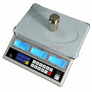 30kg X 1g Precision Digital Counting Parts Coin Scale Table Top Balance 66lb