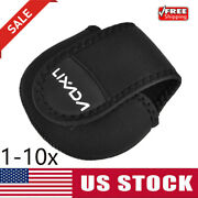 1-10pcs Portable Fishing Spinning Reel Protective Pouch Storage Bag Black K1b6