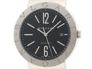 Bvlgari Bb42ss Automatic Winding Mens Wristwatch Stainless Steel Black Dial My