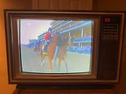 Vintage 1985 Sears Roebuck 19 Lxi Series Squareview 20 Wood Grain Tv Television