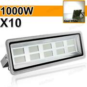 10pack 1000w Led Flood Light Cool White Super Bright Waterproof Outdoor Security