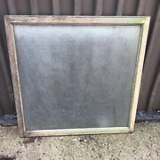 Large Vintage Antique Window Privacy Glass Pattern 40andrdquo X 40.25 - 36 X 37andrdquo Pane