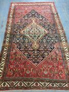 Old Used Antique Per Sian Handmade Wool Rug,carpet,shabby Chic,size9.5by 5.6ft