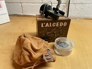 Vintage Alcedo Micron Ultralight Spinning Reel W/bag Box Spare Spool And Parts