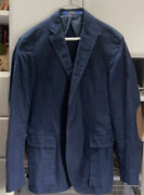 Gilford Bellows Sport Coat In Blue With Elbow Patches Size 40 R