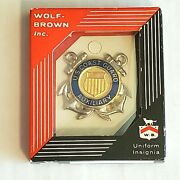 Vintage Us Coast Guard Full Size Enlisted Cap Badge Insignia-new In Box