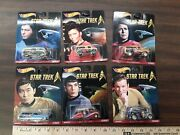 2015 Hot Wheels Real Riders Star Trek 6 Piece Complete Set Of Cars