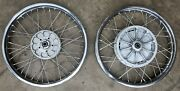 Bmw Airhead And03970-84 18x2.15in Dual-disc Brake Conversion Cwc Stainless Wheels