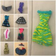 Monster High Doll Clothes Lot Of 9 Pieces Dresses Ghoulia Rochelle Cleo