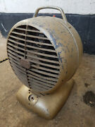 Vintage Gec Electric Heater Fan Industrial -working Will Need New Cable And Test