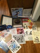 Disney Exclusive D 23 Magazine Mickey Mouse With Lots Of Fan Club Collectibles