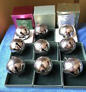 1971 Wallace Silver Sleigh Bell Box And Card 72 73 74 75 76 77 78 79