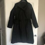 Cos Cotton Hooded Black Parker/ Trench - Sz Xs - Immaculate - Sold Out In Uk