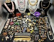 Huge High End Vintage Rhinestone Costume Jewelry Lot Signed Bling Juliana Weiss