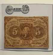 Fractional Currency 5c F-1230 Firm Paper On Sale
