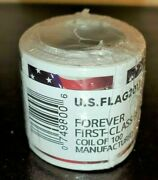 1 Roll / Coil Of 100 Us Flag New Forever Postage Stamps