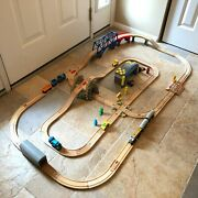Thomas And Friends Wooden Railway Train Lot Full Layout Tracks Trains Vehicles