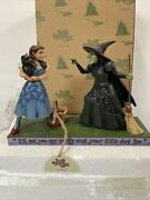 Jim Shore Wizard Of Oz I'll Get You My Pretty Dorothy And Wicked Witch Mib